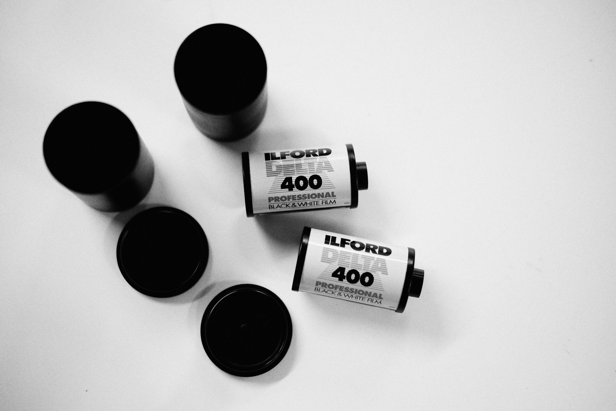Two rolls of Ilford Delta 400